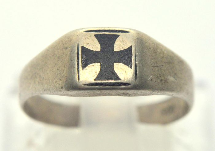 Germany - Ring with Iron Cross - 800 Silver - Ring