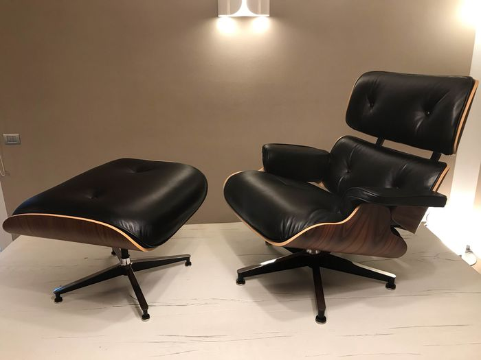 Charles Eames - Herman Miller - Fauteuil, Ottoman (1) - 670 Chaise longue