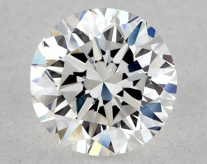 1 pcs Diamante - 0.50 ct - Brillante, Redondo - H - VVS1, * 3VG *, Low Reserve Price + Free FedEx Shipping