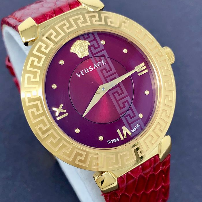 Versace - Watch Daphnis Red IP Gold Case Swiss Made - V16080017 - Senhora - NEW