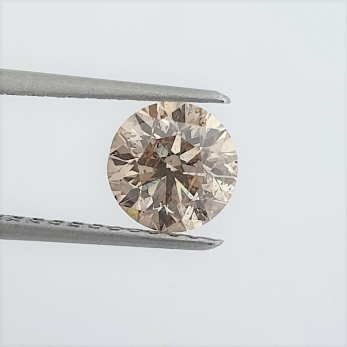 Diamante - 1.53 ct - Brillante - Natural Fancy Champagne - SI2
