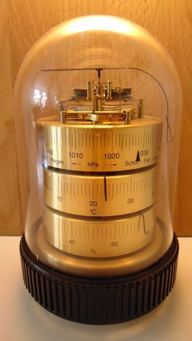 Classic model BARIGO 3025 weather station, made in Germany - Bakelite, Brass