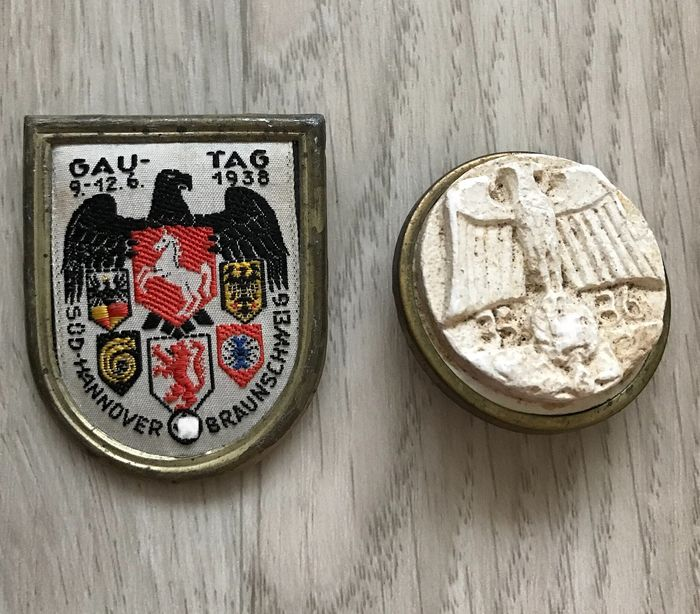 Germany - Gautag 1938 and WHW badge