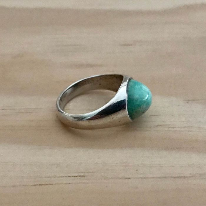 Silver - Glass paste - Ring