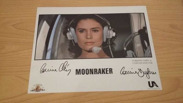 James Bond - 007 - Moonraker - Bond Girl - Corinne Clery - signed photo - with b' bc Coa
