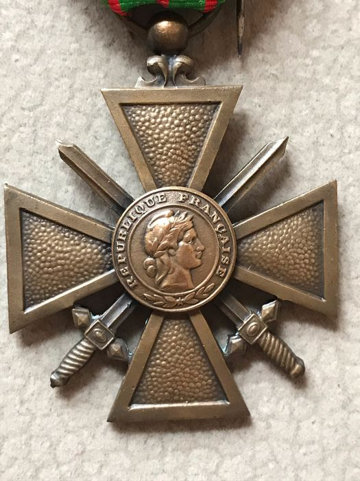France - French Military Medal War Cross 2nd World War II - 1939