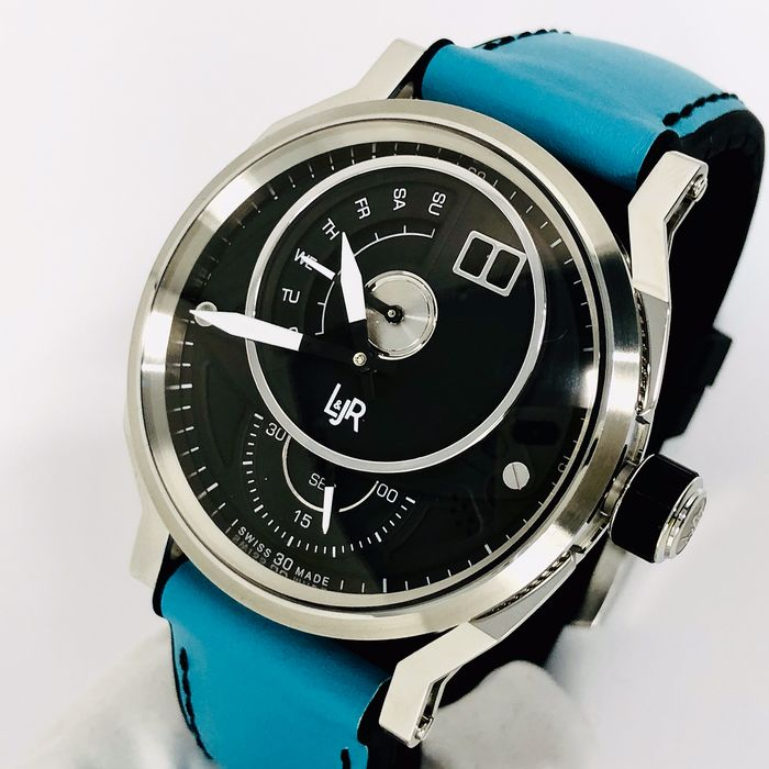 "L&JR - Day and Date Watch Miami Blue Summer Edition - 1302-S9 ""NO RESERVE PRICE"" - Men - Brand New"