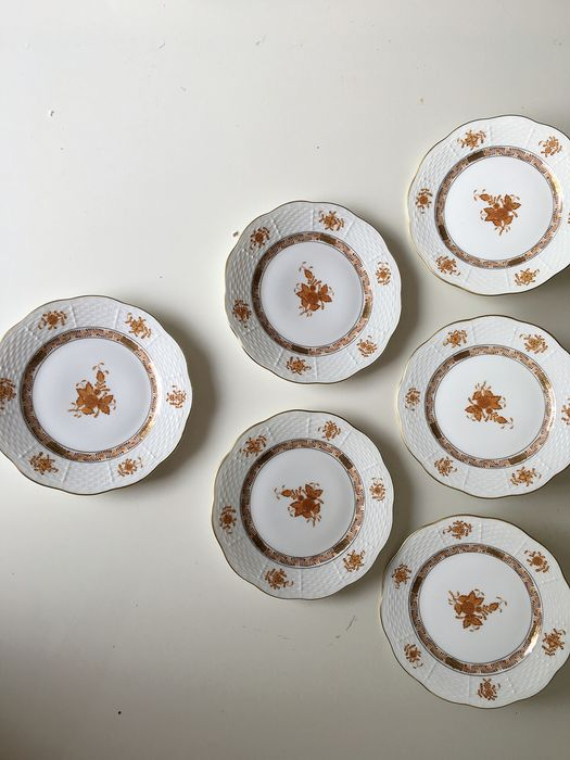 Herend - Apponyi rust bouquet color plates (6) - Porcelain