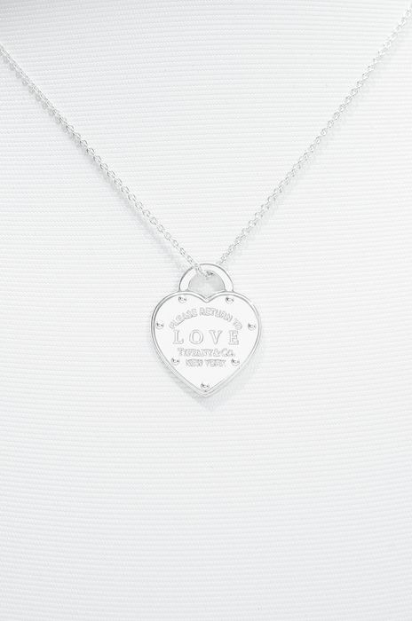 Tiffany Open Heart Necklace Plata - Collar