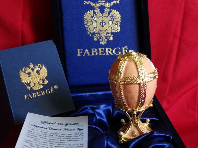 Faberge egg Imperial Original - Fabergé - Certificate of Authenticty - Numbered - authentic - 24 k gold finish