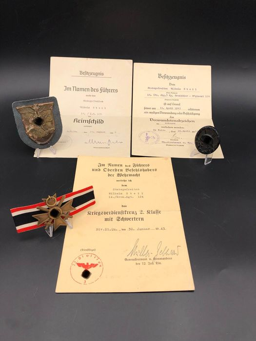 Germany - Armoured Corps - Award, Badge, Document