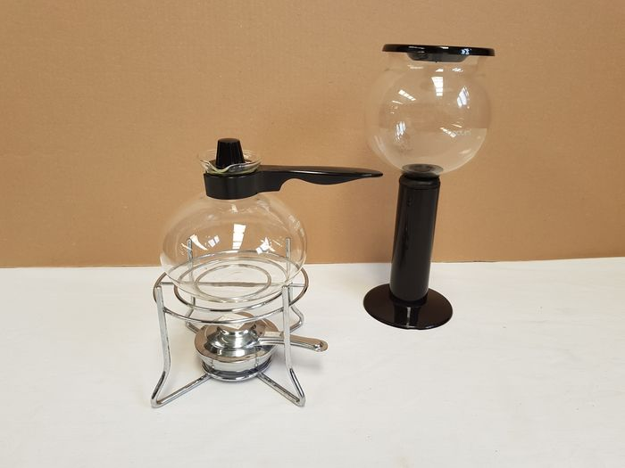 BODUM - Percolator with spirit burner, ideal for Slow Coffee - Beautiful glass jars