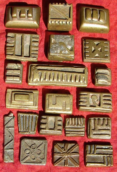 Beautiful Geometric Gold weights (20) - Bronze and Lead - Abrammuo - Akan Ashanti - Ghana