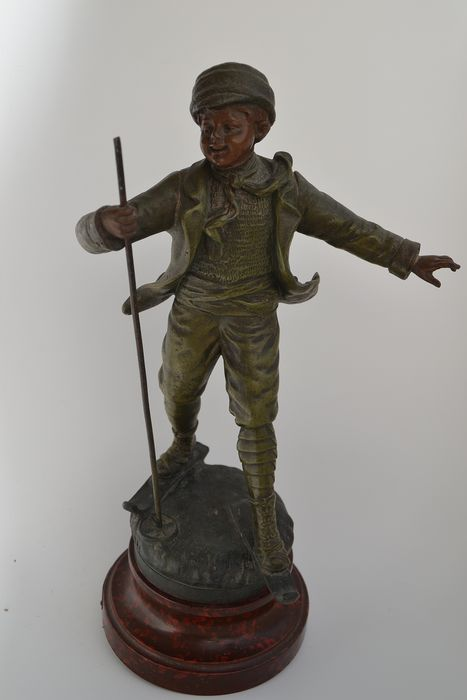 par Géo MAXIM (after example of the original of) - Sculpture, Ski - Bronze (patinated) - Early 20th century