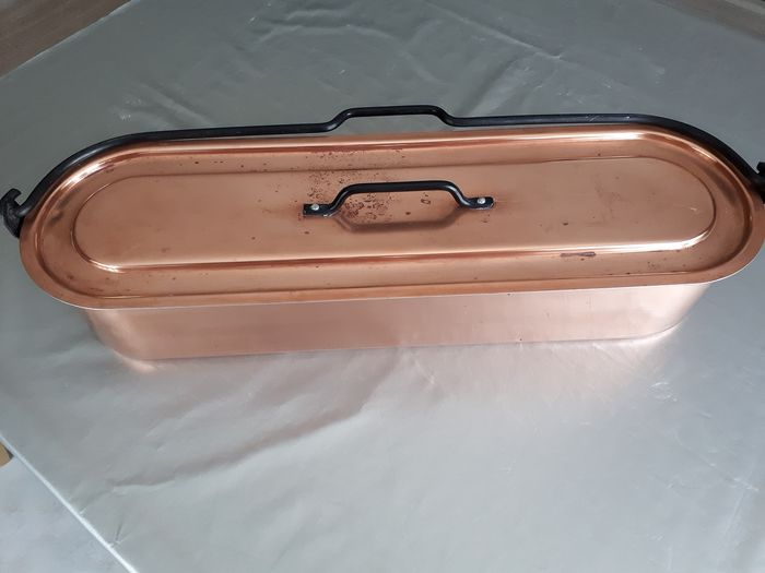 original fishmonger with its removable handle and its drainer - Copper
