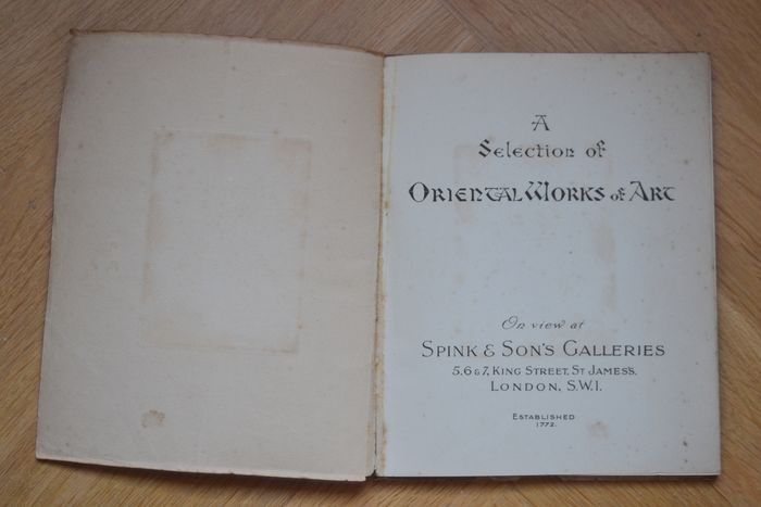 A Spink catalogue A Selection of Oriental Works of Art – 1924 - Paper - England - First half 20th century