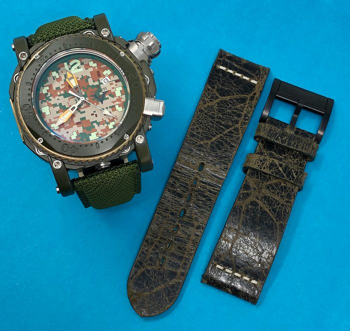 "Visconti - Automatic Pro Dive 3000 Camo Jungle Limited Edition + EXTRA Strap - KW55-03 ""NO RESERVE PRICE"" - Men - BRAND NEW"