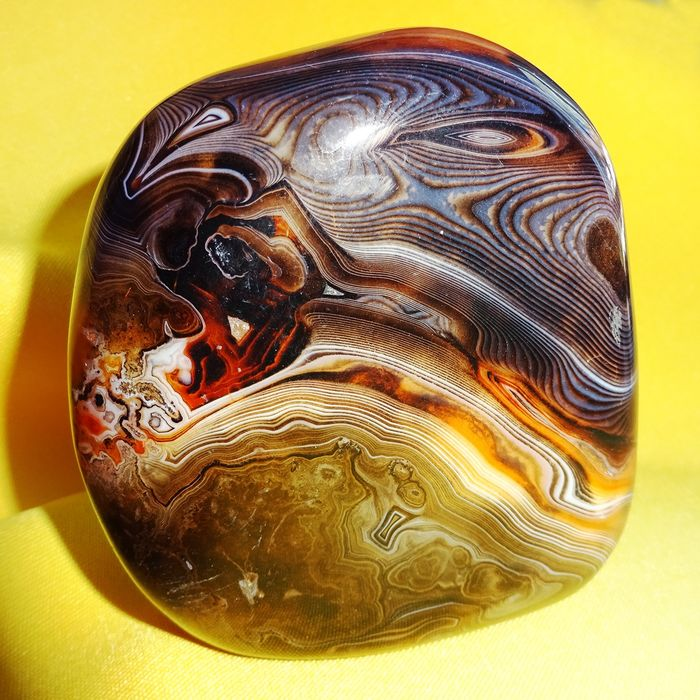 Excellent Polished Piece of Agate of Madagascar - 89×81×42 mm - 537 g