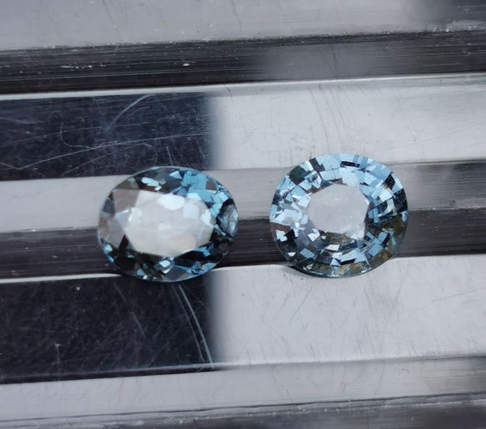 2 pcs Blue Spinel - 2.44 ct