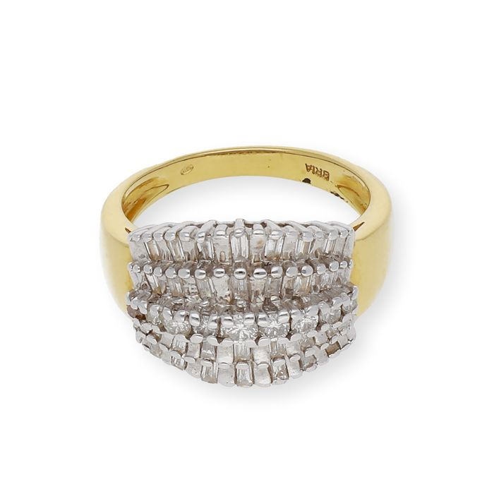 18 kt. Gold, Yellow gold - Ring Diamond