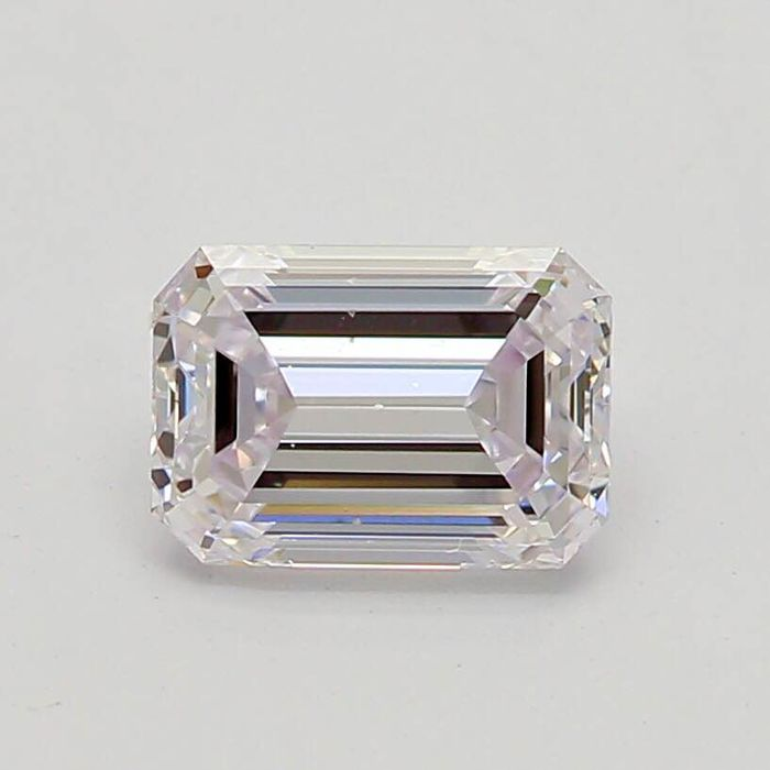 1 pcs Diamond - 0.41 ct - Emerald - faint pink - VS2