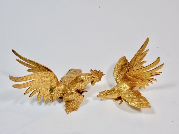 Set of ruffs (1) - Bronze (gilt/silvered/patinated/cold painted)