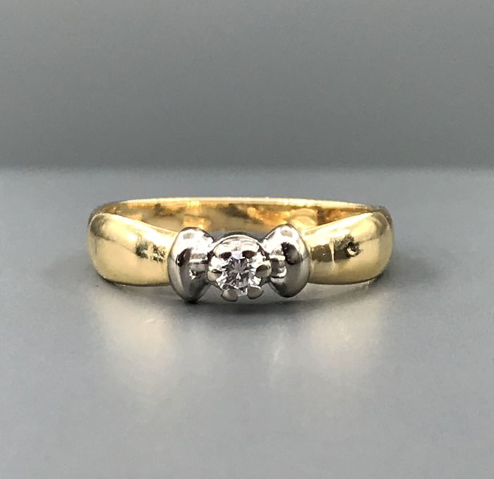 White gold, Yellow gold - Ring