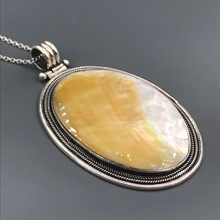 950 Silver - Necklace with pendant nacre - Pearl