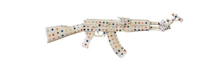 Van Apple - Damien Hirst AK47 Peace Edition