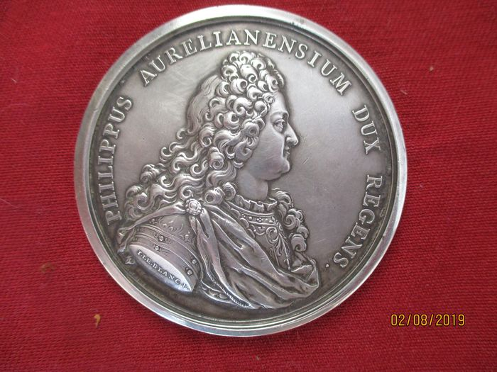 France - Medaille signée ROETTIERS 1718 - Silver