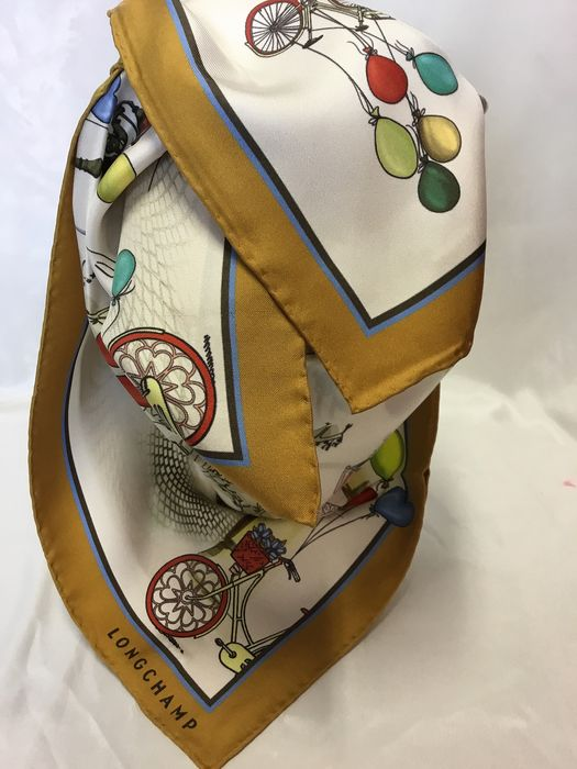 LONGCHAMP  - FRENCH luxe Silk  Scarf