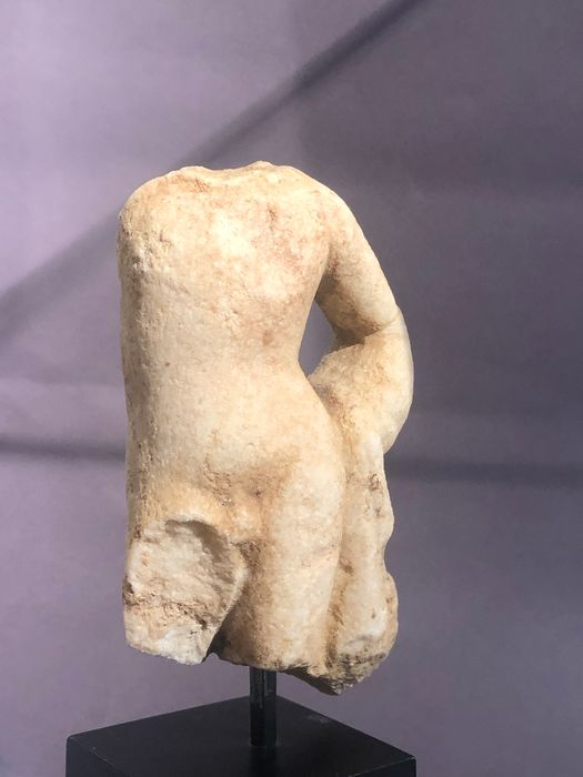 Greco-Roman Marbre small but beautiful Torso of a God (most probably Apollo)  - 11.5×6.3×0 cm