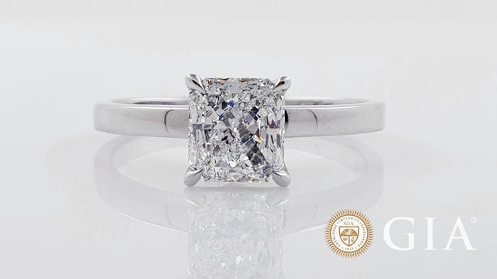 18 kt. Gold - Ring - 1.02 ct Diamond