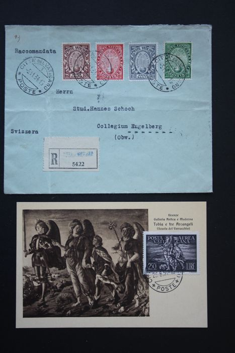 Vaticaanstad - Lot with 22 letters including envelopes and postcards