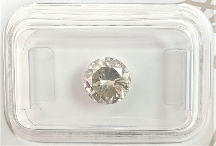 Diamant - 1.60 ct - Briljant - Fancy Light Yellowish Grey - SI2, No Reserve Price