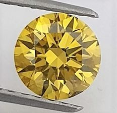 Diamante - 1.29 ct - Brilhante - Fancy Deep Yellow - GIA - SI1