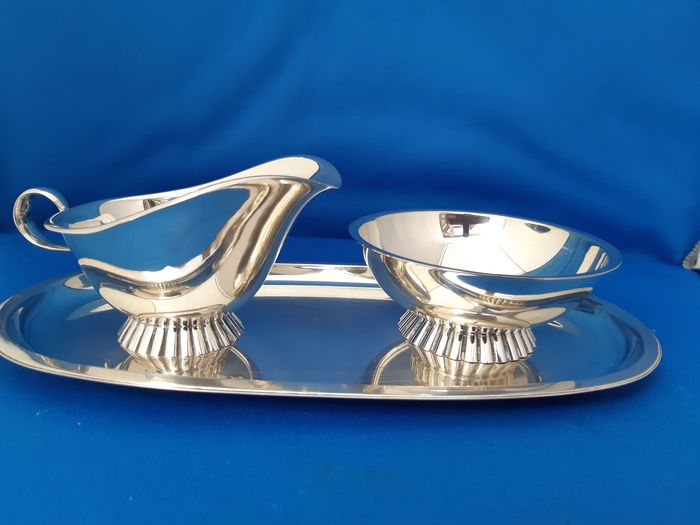 Cream set (3) - .835 silver - Wilkens - Germany - mid 20th century