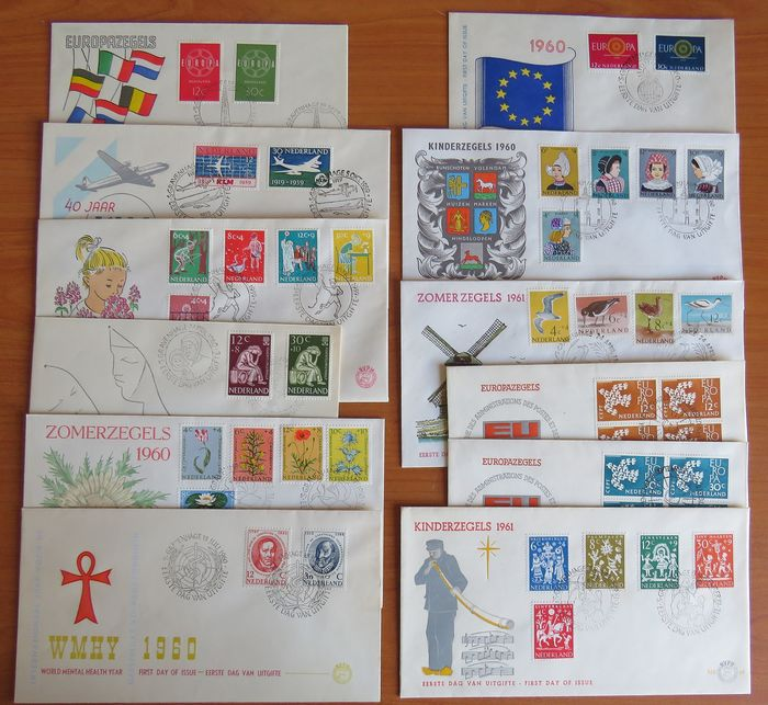 Netherlands 1959/1961 - Selection of eleven FDCs - NVPH