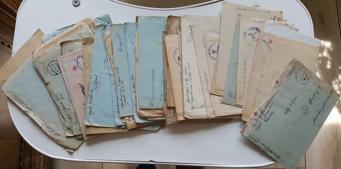 Germany - 50 letters from 5 years of war, one soldier to the family, 1940 - 45 - Personal attributes - 1940