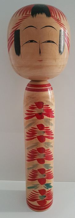 Traditional vintage kokeshi from Toogtta, 54cm - Wood