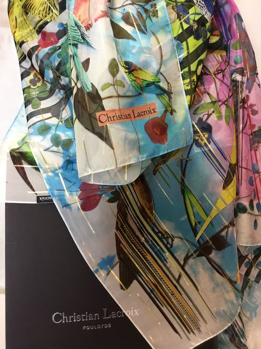 Christian Lacroix Big SCARF Silk