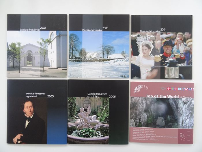 Danemark et Scandinavie 2002/2006 - Complete set with 5 official (21st century) year sets.