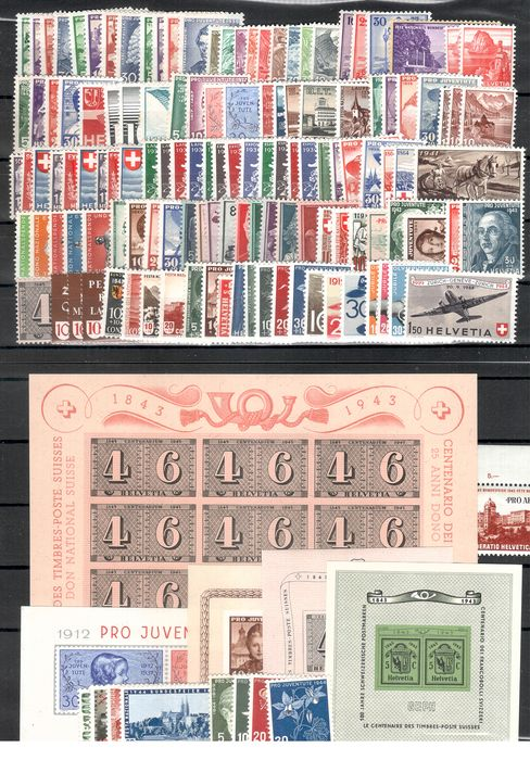 Suisse 1933/1944 - Collection including better blocks