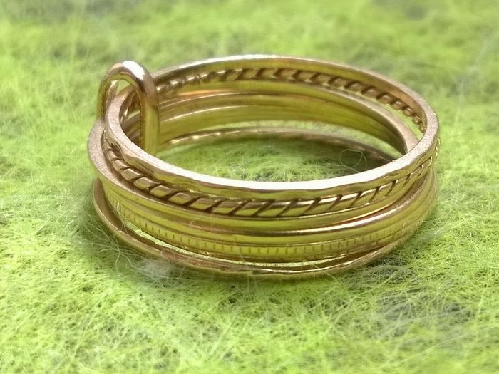 Rare - 18 kt. Yellow gold - Ring, weekly
