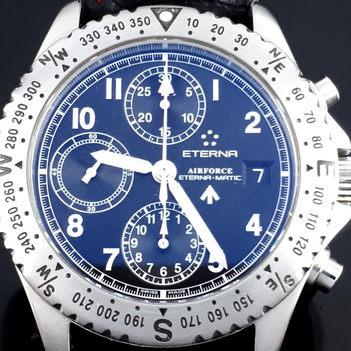 """Eterna-Matic - Airforce Automatic - """"NO RESERVE PRICE"""" - 8418.41 - Hombre - 2011 - actualidad"""