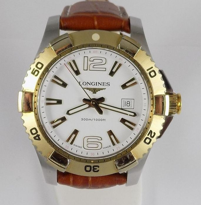 Longines - Hydro Conquest - 300 Meters - Two Tone - L3.647.3 - Men - 2000's