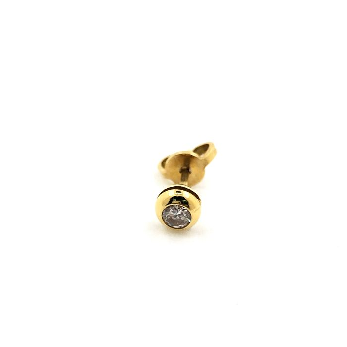 18 kt. Yellow gold - Earrings - 0.15 ct Diamond
