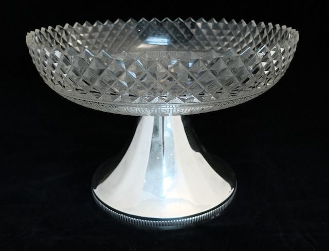 High coupe on a silver base - .800 silver - Europe - Late 20th century
