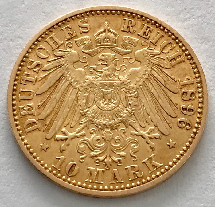 Germany - Prussia - 10 Mark 1896 A - Wilhelm II. - Gold
