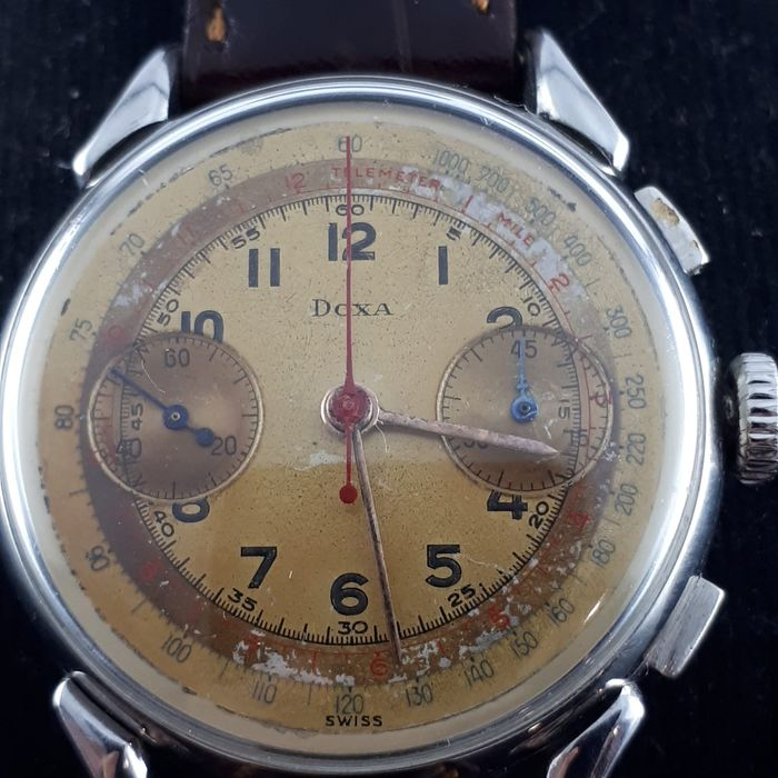 Doxa - Vintage Chronograph Manual wind  - 1750044- 1750054 - Men - 1950-1959
